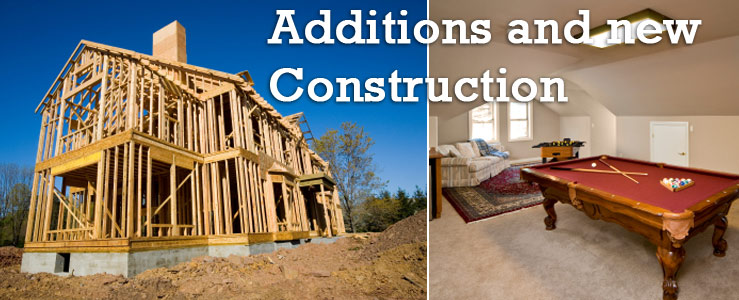 Room addition and new home construction Los Angeles, Orange County, Ventura California