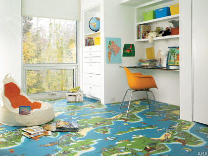 FiberFloor's Easy Living Fun Collection comes in an array of unique designs.