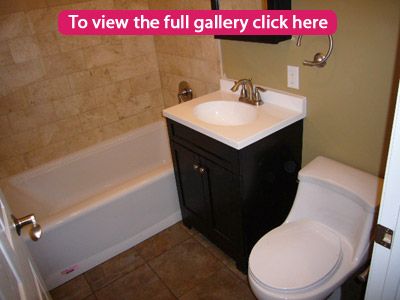 "Click to view the full ""Clean House"" Bathroom remodeling project picture gallery"