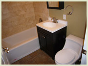 Bathroom remodel Clean House TV show