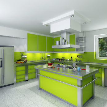 Decorating with Sage Green in the Kitchen Los Angeles Orange