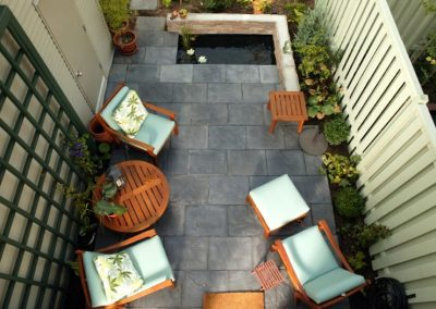 Home exterior patio view from the top